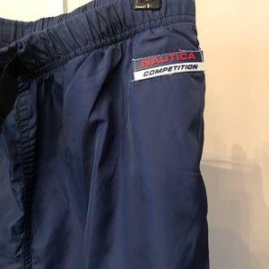 Nautica Competition Navy Blue Nylon Track Pants S